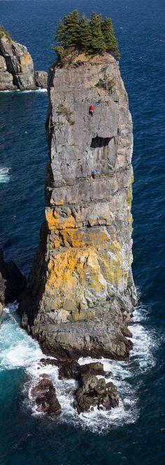 Climbing Tasmania's Totem Pole . Australia