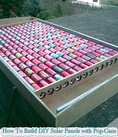 Build A Solar Heater Out Of Pop-Cans How To Build DIY Solar Panels with Pop-Cans Building your own DIY solar heater isn't as hard as it seems… with this ingenious method detailed by DR Drashco