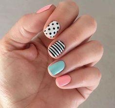 Cute Summer Nail Designs, Diy Nail Designs, Pedicure Designs, Pedicure Ideas, Trendy Nails, Cute Nails, Funky Nails, Summer Gel Nails, Spring Nails