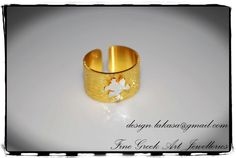 Frog Chevalier Ring Sterling Silver 925 Gold by LakasaEshopDesign