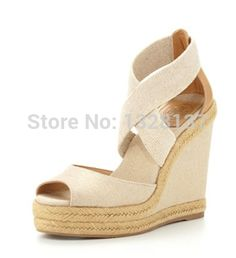 88.99$  Buy now - http://aligz4.worldwells.pw/go.php?t=32724246827 - 2015 Casual Big Size US14 High Heels Peep Toe Wedges Narrow Band Slip On Platform Suede Shoes Women Pumps sandalias femininas 88.99$