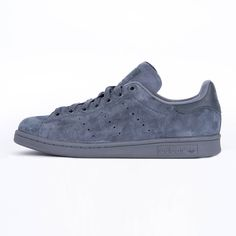 ADIDAS  S75108 STAN SMITH 10 SUEDE GREY SNEAKERS άνδρας  υποδηματα sneakers