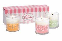 Just Desserts pienet kynttiläpurkit trio 47,90€/3 kpl, yksi jokaista tuoksua paloaika 20-30h/kpl Shop online: www.tanjasavela.partylite.fi