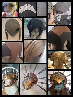 Kotal Kahn Headpiece Process My page: www.Facebook.com/m.cosplay Note: I started in foam because I wasn't sure if three worbla was going to arrive on time but it did and I just added it on top. 1....