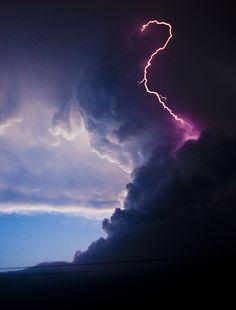 Beautiful night time photo of lightning.