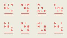 Nimble brand identity - simple grid system and customised mono typeface that…