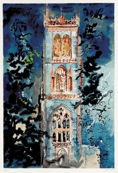 John Piper, Huish Episcopi (Somerset, SW England),1986, screenprint on paper, 68.5 x 46. Edition of 100, Levinson 382.