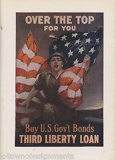 Vintage WWII War Bonds Poster