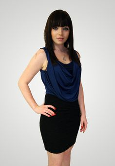 Elastické modré šaty