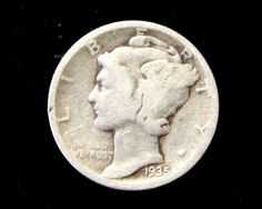 1935 Good or Better Mercury Dime! 90% Silver!  . Starting at $1