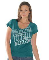 G-Iii Womens NFL Philadelphia Eagles Fan Fare S/S Tshirt. #Eagles #SVSports #FanGear #NFL