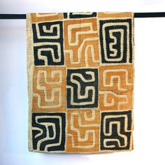 """Kuba textiles are unique in complexity of design and surface decoration. Width: 28.5"""" x Length: 144"""" www.amazon.com/shops/Rejawece"""