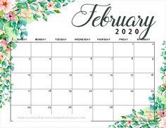12 Free Printable February 2019 Calendar to Love: ALL Pretty! June 2019 Calendar, Today Calendar, Cute Calendar, Print Calendar, Free Calendars To Print, Free Printable Calendar, Printable Planner, Free Printables, Happy February