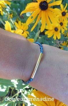 Bracelet perles de miyuki : Bracelet par couleur-grenadine33