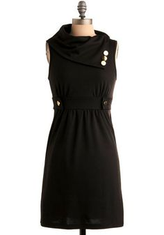 Streetcar Tour Dress in Noir - Even though it's sleeveless it screams fall to me - I wanna pair it with some cute tights and knee high boots