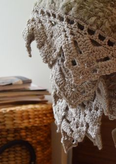 Crocheted blanket edging