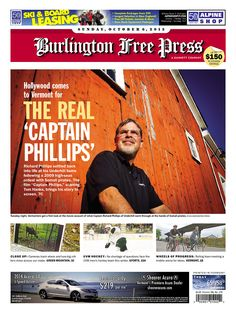 Hollywood's down-to-earth guy plays Vermont high-seas captain - in today's Burlington Free Press www.burlingtonfreepress.com