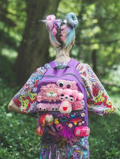 There is no words to describe the magic of this beautiful backpack... Except that it is KAWAII COOL AMAZING PURPLE SLIME & TOY COVERED HEAVEN-SCENT BACKPACK DREEEEAM! DEETS: - Dreamed up in Melbourne by Cut Throat On The Street - Covered in most-loved reclaimedtoys - Hand slimed & pimped - One off piece - you won't find this baby anywhere!