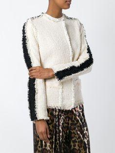 Lanvin veste texturée à détails frangés