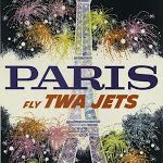 Paris Fly TWA Jets - Vintage Travel Printable Poster