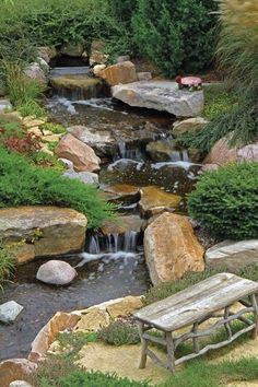 Aquascape Large Pondless Waterfall Kit with 26' Stream and AquaSurgePR – River Rock Water Gardens