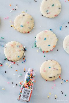 Simple homemade treats for big celebrations: Funfetti Shortbread Cookies recipe | Fork To Belly