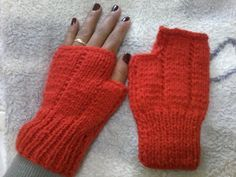Luciane Sereia: Luvas de tricô sem dedos
