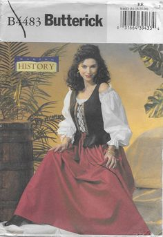 Butterick 4483 Making History Boned Corset Pullover Top and