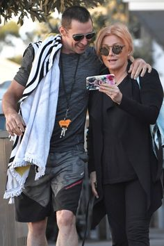 Hugh Jackman took a break from filming his third Wolverine movie on Wednesday to enjoy a sweet outing with his wife, Deborra-Lee Furness, in his native Hugh Jackman, Hugh Michael Jackman, Hugh Wolverine, Wolverine Movie, Australian Actors, Best Actor, Famous Faces, Fangirl, Celebrity Style
