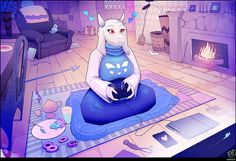 """Toriel (Undertale)"""" on deviantart. I must say the artist are talented and expertise in female mammal's breast. Undertale Toriel, Undertale Fanart, Dino Crisis, Toby Fox, Gamer Humor, Undertale Drawings, Monster Girl, Furry Art, Funny Comics"""