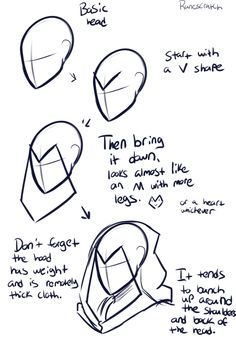 How to Draw a Hood/Mask, text; How to Draw Manga/Anime