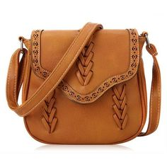 Women Casual Weave Zipper Shoulder Bags Crossbody Bags ($11) ❤ liked on Polyvore featuring bags, handbags, shoulder bags, bolsas, brown cross body purse, handbags purses, shoulder handbags, man bag and brown handbags
