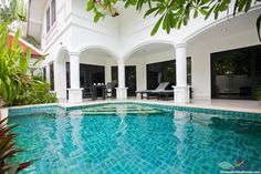 Na Jomtien Pool Villa - 3 Bed - Resort with Private Beach. The resort is just 400 meters from its own secluded beach,  which is pretty much desolate apart from the resort's guests. http://www.thailandholidayhomes.co.uk/pattaya/na-jomtien-pool-villa.html
