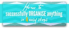 Tips and Advice on all aspects of getting organised once and for all - organise every part of your home and life. Great website!