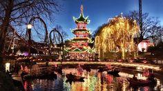 Visit the Tivoli Gardens Fun Fair Amusement Park in Copenhagen