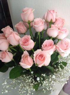 My Baby pink roses Rose Vase, Flower Vases, Pink Roses Background, Pink Wedding Decorations, Pink Rose Bouquet, Hot Pink Roses, Hearts And Roses, Rose Arrangements, Rose Wallpaper