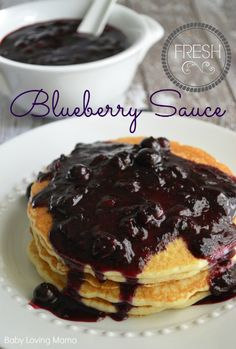 Homemade Blueberry Sauce: Perfect for Pancakes, Ice Cream & Pudding #KraftRecipes #sponsored