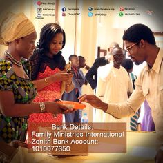 Life just got easier. You can now pay your Tithe, Offering, Pledge, and other contributions through the #POS machine at the Tape Desk.  And online payment to: Family Ministries International 1010077350 Zenith Bank.