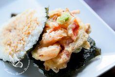 Japanese food kakiage tempura rice burger