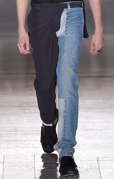 wgsn: The usual directional designs from Maison Martin Margiela S/S 15 as seen through this half trouser, half denim pieced pant