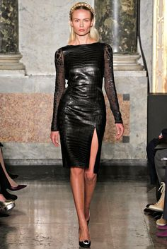 Emilio Pucci Fall 2012 Ready-to-Wear Fashion Show – Leather Style Emilio Pucci, Leather Dresses, Look Chic, Leather And Lace, Black Leather, Leather Fashion, Fashion Show, Steampunk Fashion, Gothic Fashion