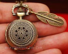 Beautiful pocket watch necklace