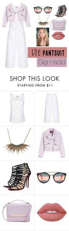 """""""Steal her style!"""" by knockstyles on Polyvore featuring adidas, ESCADA, Roberto Cavalli, Christian Louboutin, RetroSuperFuture, Ted Baker and Lime Crime"""