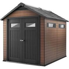 Keter Sheds & Storage Fusion 7.5 ft. x 9 ft. Wood and Plastic Composite Shed 224655