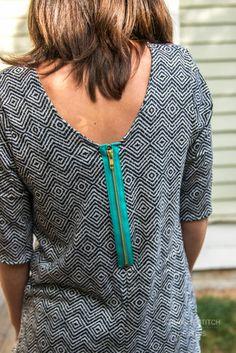 Indiesew.com | Ravenna Top Sewing Pattern by Straight Stitch Designs, Creation by straightstitchdesigns. Modern design
