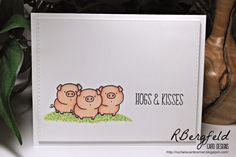 Rachel's Card Corner: PS Sparks Designer Draft and CAS One Layer Cards - MFT Stamps, From the Herd