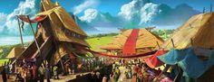Realm Village Concept by atomhawk.deviantart.com on @deviantART