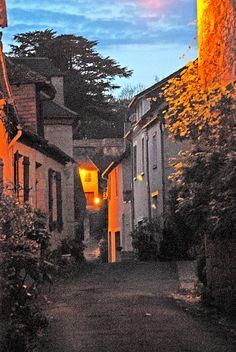 Village at dusk - Hautefort , Dordogne Truly gorgeous!