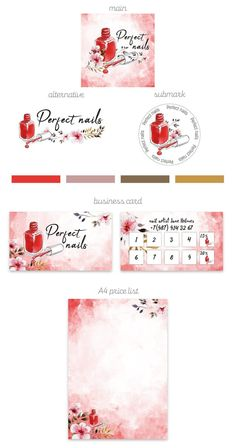 Welcome to VeronikaDesignStore! The Premade branding kit design may be the perfect solution for nail artist, nail salon and nail boutiq… en 2019 Home Nail Salon, Nail Salon Design, Hair Salon Interior, Nail Salon Decor, Salon Business Cards, Makeup Artist Business Cards, Business Card Design, Manicure E Pedicure, Nail Spa