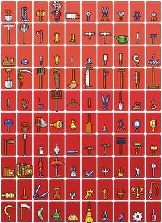 100 tool sprites by *Neoriceisgood on deviantART
